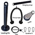 HYJMJJ-2M-Polso-Roller-Trainer-Braccio-Forza-di-Formazione-Ginnico-Fai-da-Te-Pulley-Cable-System-per-Bassi-Tirare-LAT-riccioli-Bicipite-tricipiti-Estensioni-Fitness-Gym-WorkoutPaquete-1