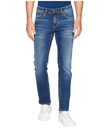 Tommy Jeans Men's Scanton Slim Fit Jeans Wilson Mid Blue Stretch 33 32