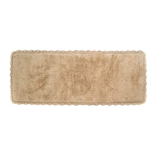 (Crochet Bath Runner, 22 by 60-Inch, Linen)