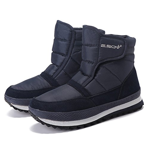 Cotton Ankle Boots Women's Snow Shoes Navy Snow Winter Warm Booties Lining Top Gracosy High PnfWXqA1PS