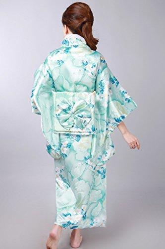 Smile YKK Kimono Imprimée Femme Turquoise Fleur