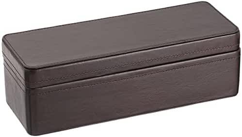 Fossil Leather Four-Piece Watch Box MLG0318201 - Dark Brown