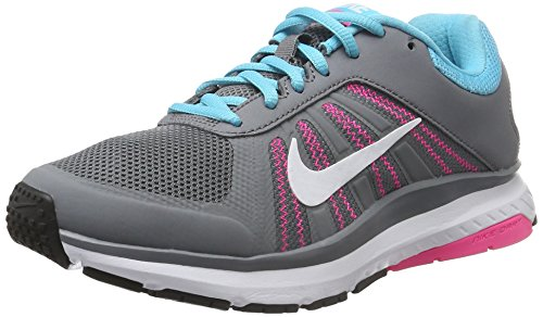 Nike Damen Dart 12 Laufschuhe, Grau (Cl Grey/White-Gmm Bl-Pnk Blst), 38 EU