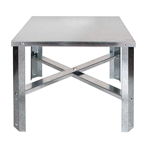 Eastman 86278 Water Heater Stand 30-60 Gallon, Silver ()