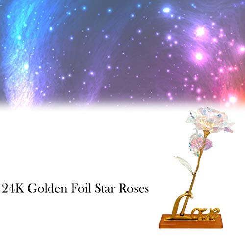 - Gotian Gold Foil Rose with Star Rose is The Best Choice for Gifts There are Lights, Show Your Sincere Love, a Perfect Gift for Your Spouse Wife Girlfriend Lover