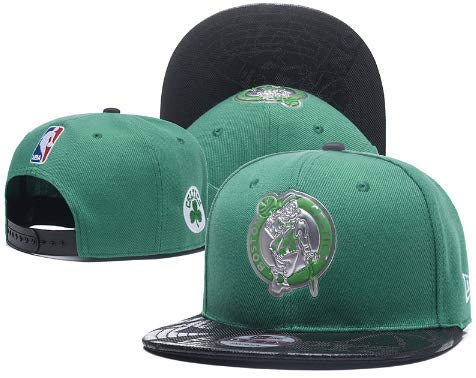 Boston Basketball Team Snap-Back Hat! Pierce Reflective Green and Black Jersey Themed Baseball Cap! ()