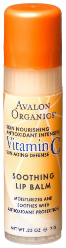 Avalon Organics Vitamin C Soothing Lip Balm, 0.25 -Ounce Bottle