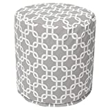 Majestic Home Goods Gray Links Indoor/Outdoor Bean Bag Ottoman Pouf 16'' L x 16'' W x 17'' H