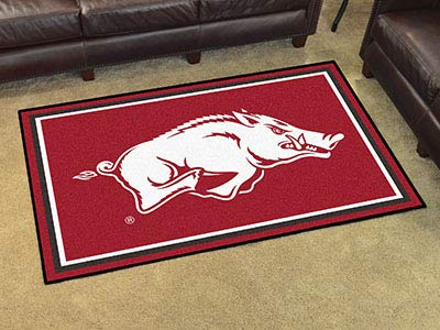 Fan Mats 6615 UA - University of Arkansas Razorbacks 4' x 6' Area Rug