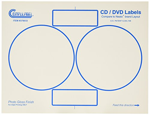 Continental Compulabel White Photo Gloss CD/DVD Labels fo...