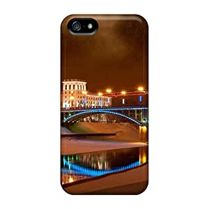 New Arrival Case Specially Design For Iphone 5/5s (lovely Lit Bridge On A Winter Night)