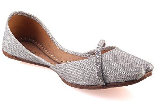 Unze Joce' Enfants Filles Diamante cuir à la main détaillée Pompe plat Khussa