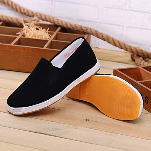ユニセックス太極拳武術靴中国ヴィンテージKungFu Wushu靴翼チュン靴、手作りの多層ソールblack-46
