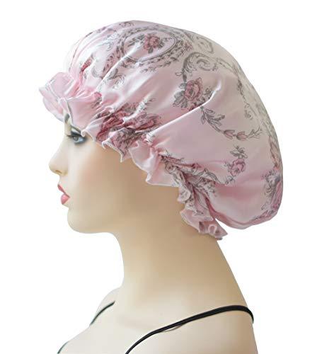 Sleep Caps for Women & Girls, Silk Night Cap Beanies Sleeping Bonnet Hat Head Cover for Curly Hair Natural Hair Beauty