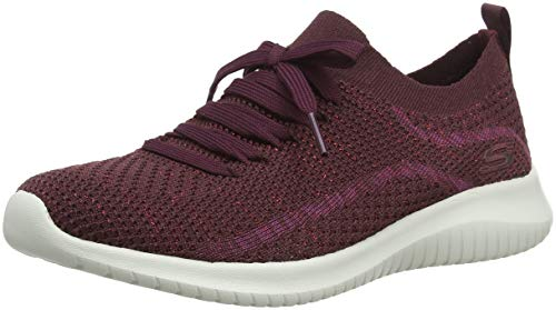Burgundy salutations Flex Bianco Femme Baskets Ultra Skechers Rouge Enfiler burgundy qFPE4zxw