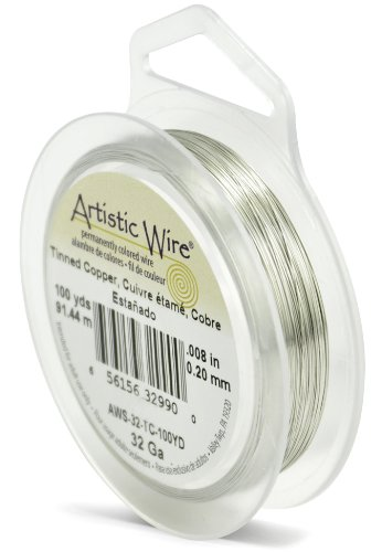 - Artistic Wire 32-Gauge Tinned Copper Wire, 100-Yards