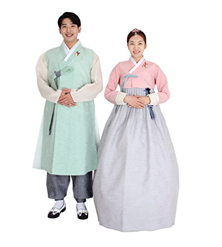 Hanbok Korea Traditional Costumes Women Men Couple Weddings Birthday Speical Ceremony co103 (66 (M) womens top) by Hanbok store