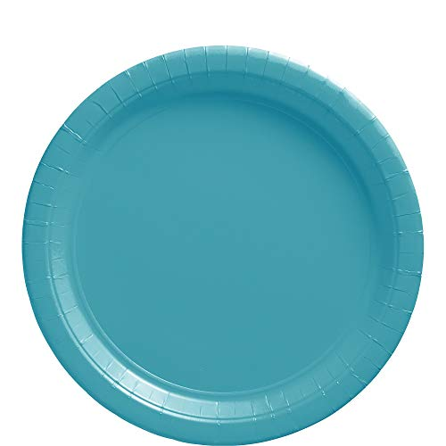 Amscan Caribbean Blue Paper Plate Big Party Pack, 50 Ct.]()