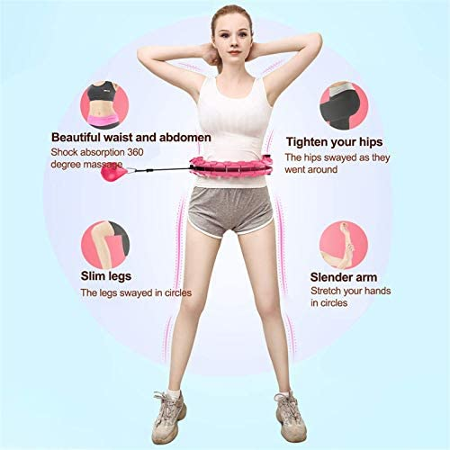 DALINDA Weighted Fitness Ring, 2 in 1 Smart Abdomen Fitness Weight Loss Massage Not Dropping, 24 Detachable Knots Adjustable Auto-Spinning Ball, for Adults and Kids 3