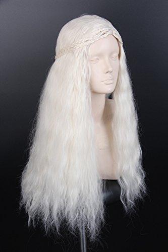 [Topcosplay Women Wig Blonde Long Curly Halloween Costumes Cosplay Wigs] (Daenerys Targaryen Costume Hair)