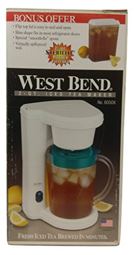 West Bend 2 Quart Iced Tea Maker 6050X