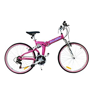 Columba 26 Inch Alloy Folding Bike Bubblegum