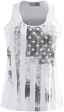 ALL FOR YOU Women's American Flag Design Independence Day Top