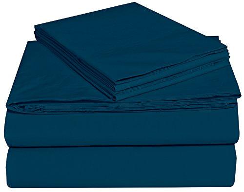 EnvioHome Organic Cotton Sheet Set - 4 Pc - Moroccan Blue, Cal King