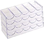 Colcolo 4 Pieces Poker Chips Tray Case Holder Box Container Accessory Parts No Lid