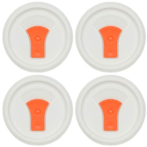 Corningware FM-22-VPC 20oz Orange Round Soup Mug Pop-Ins Vented Lid (4-Pack)