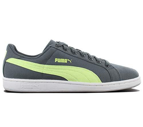 Puma Smash CV Canvas Herren Schuhe Grün Textil Sneaker Turnschuhe Mehrfarbig