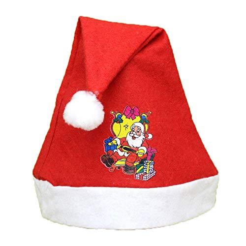 Men's holiday beanie hat santa claus