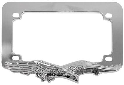 Amazon.com: Custom Accessories 92732 Chrome Eagle Motorcycle License ...