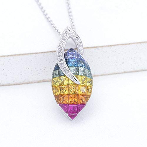 EQUALLI Evelyn Rainbow Sapphire & Diamond Pendant in 14K Gold
