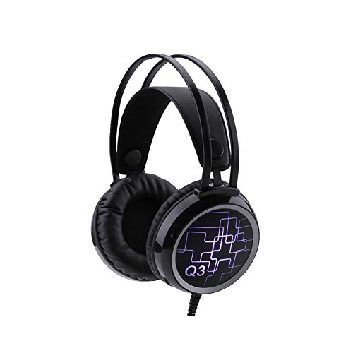 XHN Headphone Surround Sound Gaming Headset, Exceptional Audio Performance, Headphones with Mic LED Light USB Jack from XHN