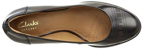 Clarks Tarah Sofia - zapatos de tacón cerrados de cuero mujer Negro (Black)