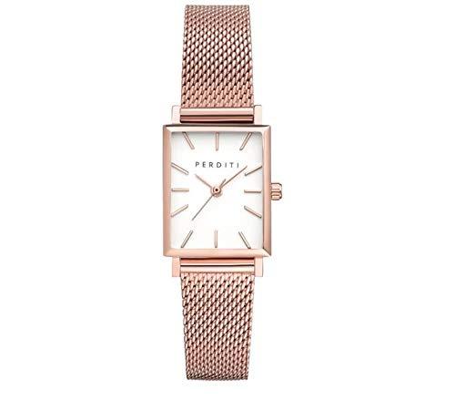Perditi Vici Oro Rosa | Reloj de Diseño para Mujer | Suiza Banda de Acero Inoxidable