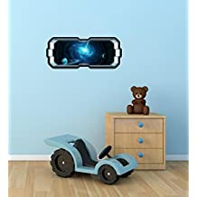"""24"""" SpaceScape Instant Star Ship Space Ship Window View EXPLODING STAR #1 Wall Sticker Decal Graphic Art Mural Kids Game Man Cave Room Decor NEW"""