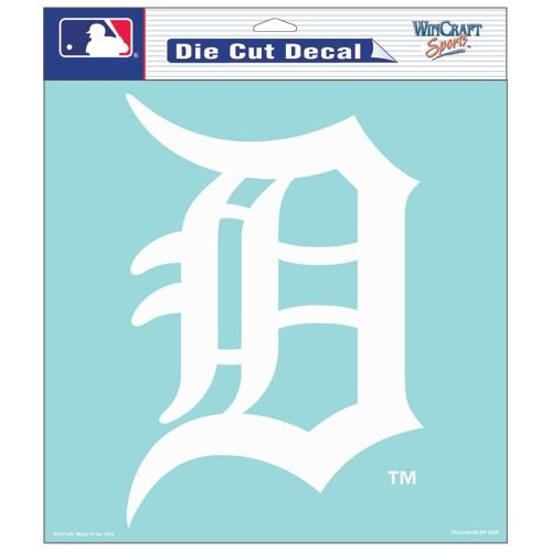 Detroit Tigers Decals (Detroit Tigers 8x8 Die Cut Window Cling)