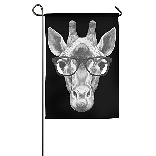 LLiYing-D Giraffe Sketch Graphic Celebration Flag -