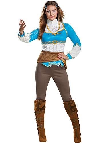 Disguise Women's Zelda Breath of The Wild Adult Costume, Blue S (4-6) ()