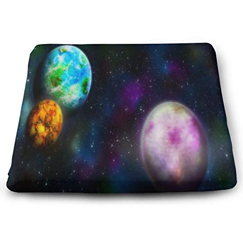 Ladninag Seat Cushion Wallpaper Space Planet Star Galaxy Chair Cushion Designer Offices Butt Chair Pads for Indoor