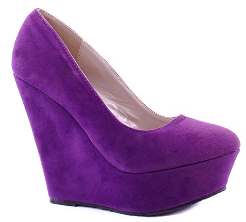 Delicacy Womens Shoes Trendy-33 High-Heels Purple HkNlfF