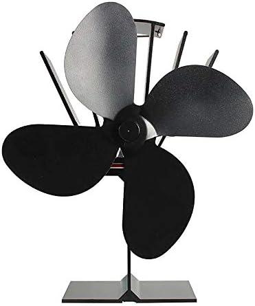 4ブレード熱ストーブファン、木材/ログバーナー用暖炉ファン、効率的な熱分配ファンエコフレンドリー