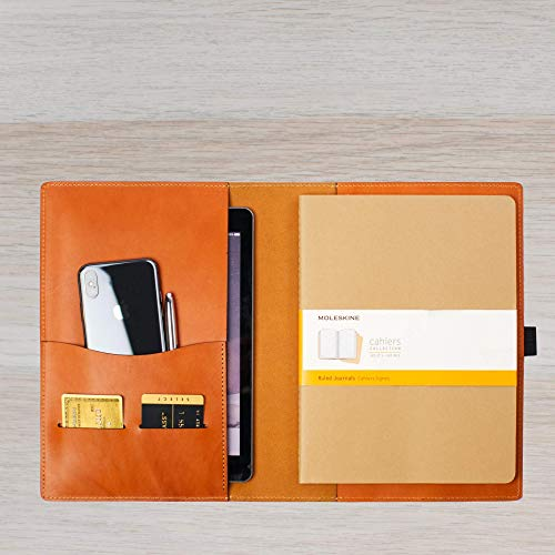 Leather Journal Cover for Moleskine XL Soft Cover/Wickett & Craig Full Grain Leather/Portfolio with Snap Closure 7.5x10 Journals