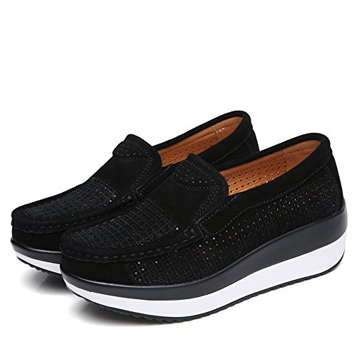 YZHYXS Women Slip Casual Comfort Wedge Sneakers Black Shoes On Flats 02 Shoes Platform drrxwptq