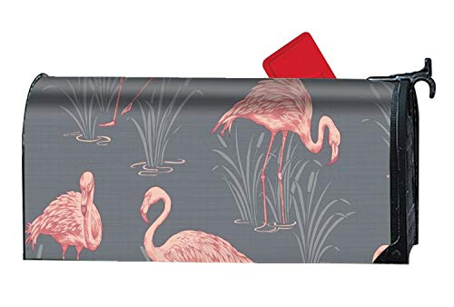 MALBX Lagoon Flamingo Grey America The Beautiful Summer Mailbox Cover Floral Patriotic Standard