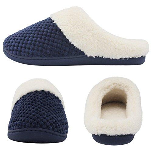 HushWear - Zapatillas de estar por casa para mujer azul marino