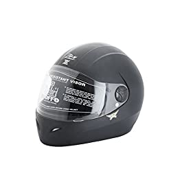 Steelbird Full face Helmet Zon Classic Helmet (Black)