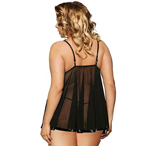 Dress Plus 45 125kg le da notte UOMUN Sling Sexy Size Camicie per dimensioni Tracolla Intimo donne Lingerie Skirt Perspective Blacke Alluce 3XL Mesh Trasparente regolabile Short Lace WO85Bdg5